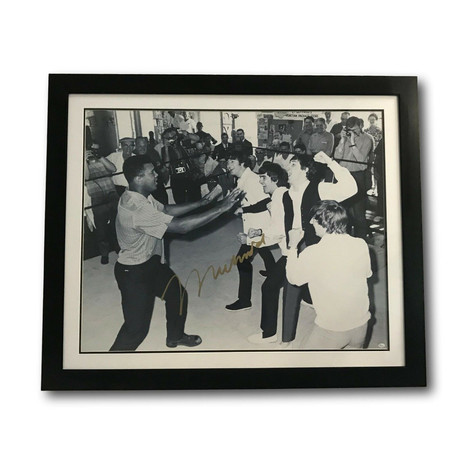 Muhammad Ali // Signed Photo With The Beatles