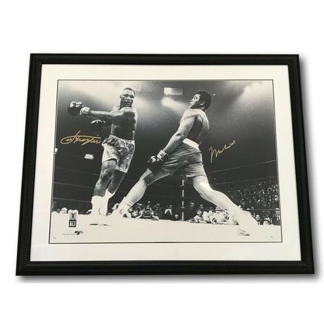 Muhammad Ali + Joe Frazier // Dual Signed Framed Photo
