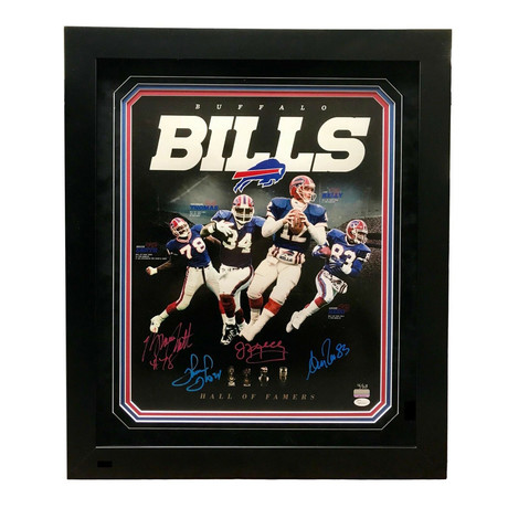 Buffalo Bills Hall Of Famers // Signed Photo // Kelly, Reed, Smith, Thomas