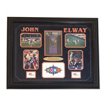 John Elway // Broncos Super Bowl XXXII Collage + Signed Ticket