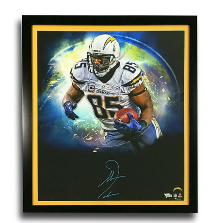 Antonio Gates // Signed Chargers Photo Display