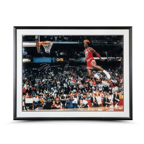 Michael Jordan // Signed Slam Dunk Framed Photo