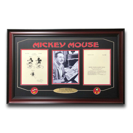 Walt Disney Mickey Mouse Patent Drawing // Framed Photo Collage
