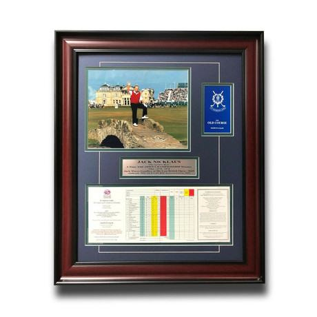Framed 2005 St. Andrews Old Course Scorecard // Jack Nicklaus // British Open