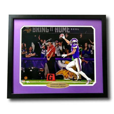 "Stefon Diggs // Signed ""Minneapolis Miracle"" Vikings Photo Display"