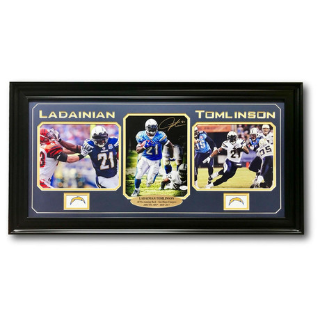 LaDainian Tomlinson // Signed Chargers Photo Display