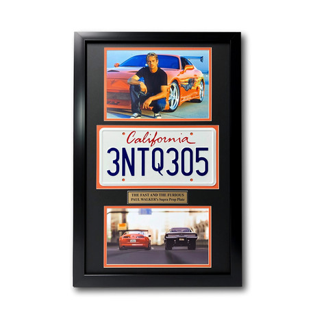 """""""Fast & The Furious"""" Framed License Plate Collage"""