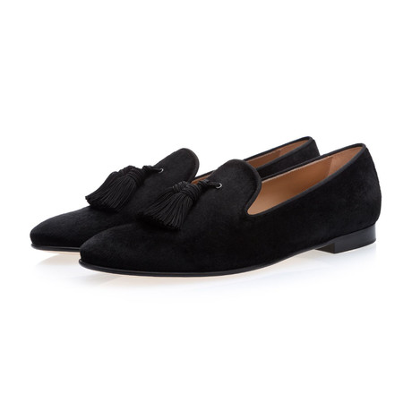 Louis Pony Slippers // Black (Euro: 39)