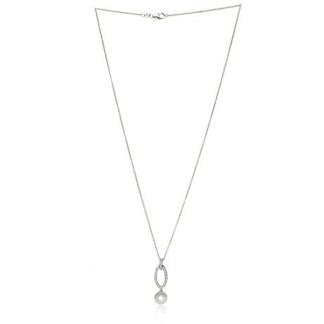 Mikimoto 18k White Gold Pearl + Diamond Necklace II