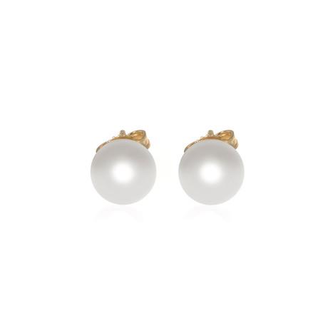Mikimoto 18k Yellow Gold Pearl Earrings