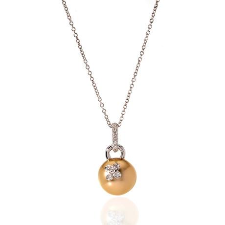 Mikimoto 18k White Gold Diamond + Pearl Statement Necklace II