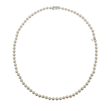 Mikimoto 18k White Gold Pearl Necklace II