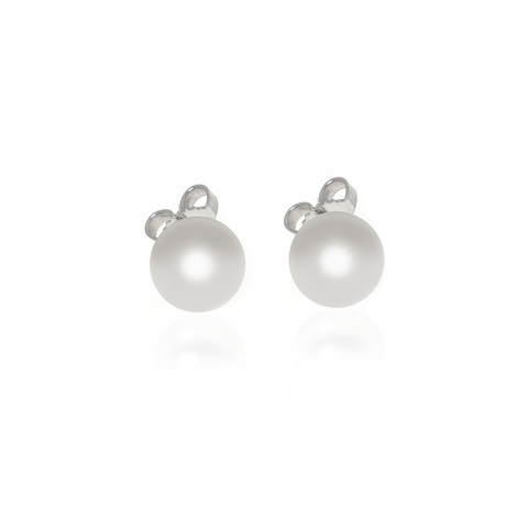 Mikimoto 18k White Gold Pearl Earrings IV
