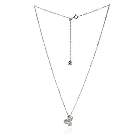 Mikimoto 18k White Gold Pearl + Diamond Necklace IX