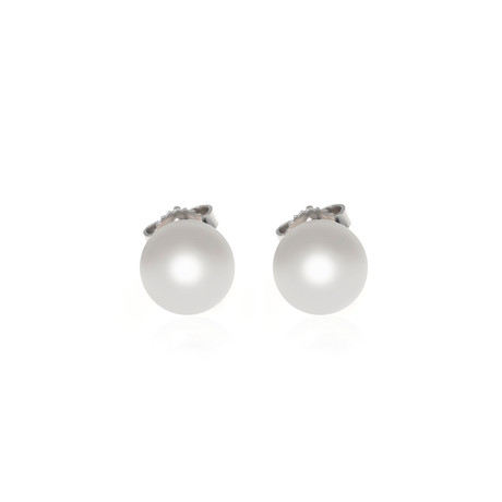 Mikimoto 18k White Gold Pearl Earrings II
