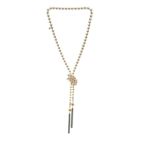 Mikimoto 18k White Gold Pearl + Diamond Necklace VII