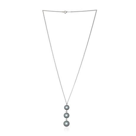 Mikimoto 18k White Gold Pearl + Diamond Necklace III