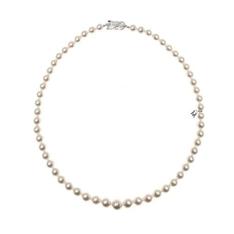 Mikimoto 18k White Gold Pearl Necklace I