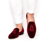 Louis Velour Slippers // Burgundy (Euro: 41)