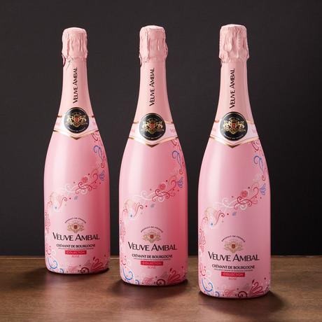 Veuve Ambal Crémant de Bourgogne Brut Rosé // Set of 3