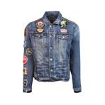 Leopard Denim Jacket // Denim (3XL)
