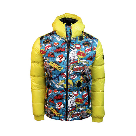 Comics Down Jacket // Yellow (XS)
