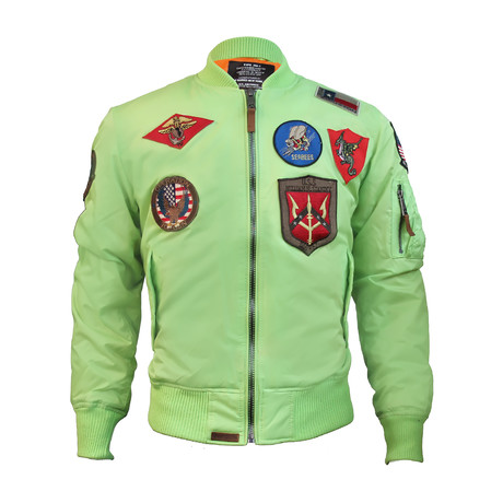 MA-1 Nylon Bomber Jacket + Patches // Mint (XS)