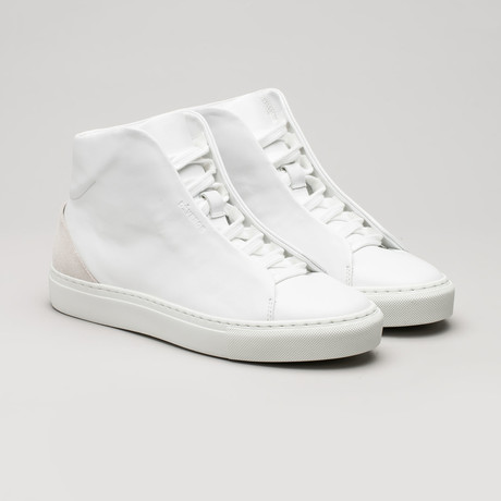 Minimal High V8 // White Leather + Bone (Euro: 40)