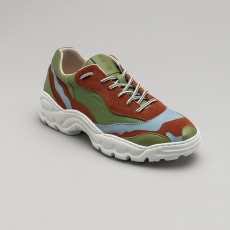 Landscape Sneakers V1 // Aloe + Caramel + Artic Blue + Pine (Euro: 40)