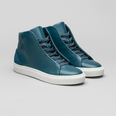 Minimal High V3 // Ocean Blue Leather (Euro: 40)
