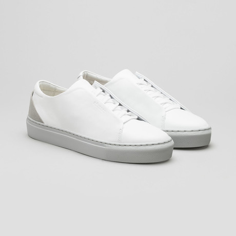 Minimal Low V17 // White Leather + Gray Sole (Euro: 40)