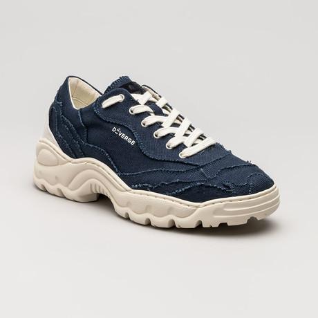 Landscape Canvas Sneakers V8 // Marine Blue (Euro: 36)
