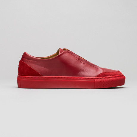 Slip On V3 // Red Wine Leather (Euro: 40)