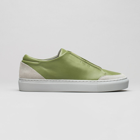 Slip On V1 // Aloe Leather + Plaster (Euro: 40)