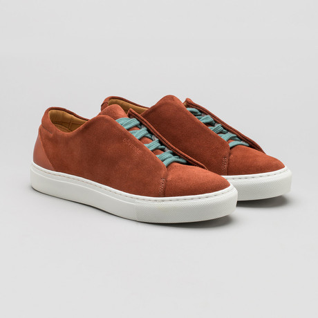 Minimal Low Sneakers V6 // Caramel Suede (Euro: 40)