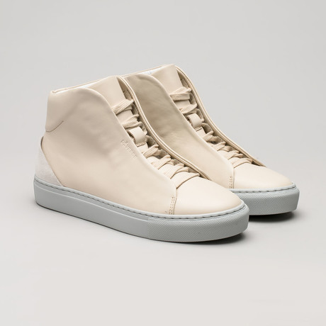 Minimal High V9 // Beige Leather + Bone (Euro: 40)