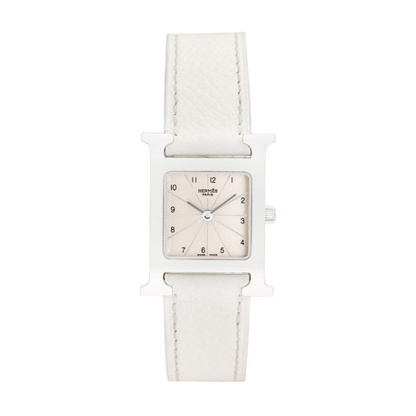 Hermes Ladies H Watch Quartz // HH1.210 // 793-TM10324 // Pre-Owned