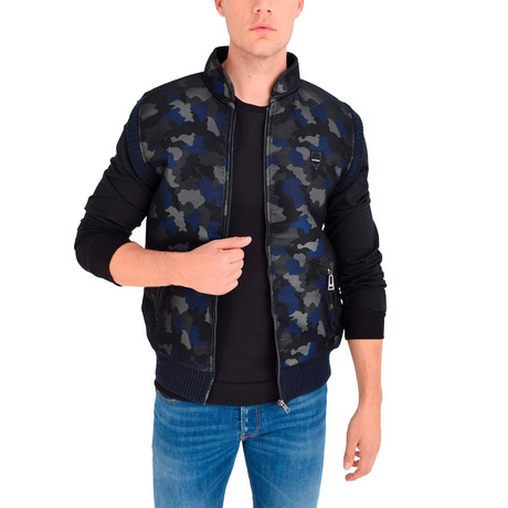 Chris Vest // Navy Blue Camo (S)