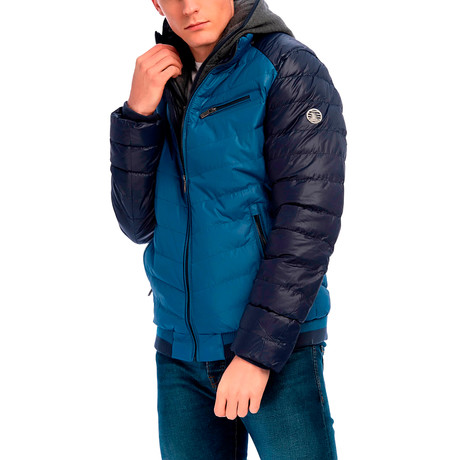 Milo Jacket // Blue + Navy (S)