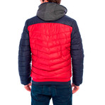 Reuben Jacket // Red + Navy (L)