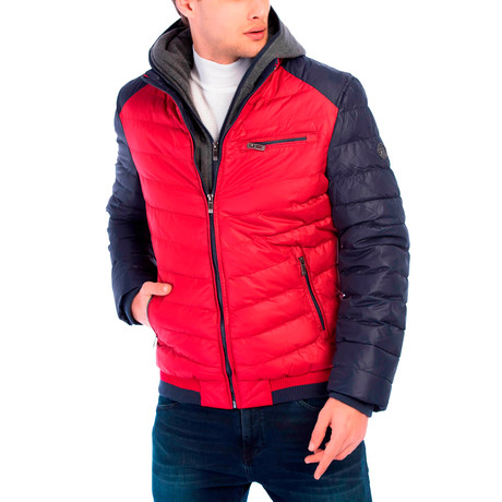 Reuben Jacket // Red + Navy (S)