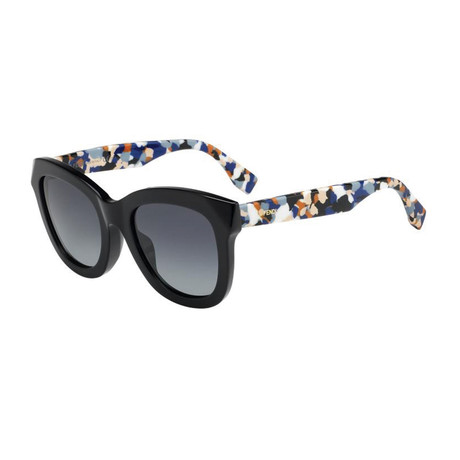 Fendi // Women's Sunglasses // Black Abstract + Gray