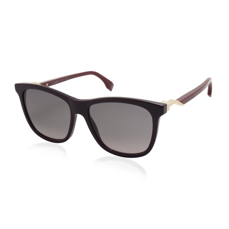 Fendi // Women's Sunglasses // Burgundy + Plum