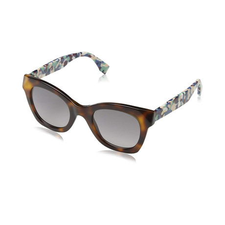 Fendi // Women's Sunglasses // Havana Abstract + Gray Gradient