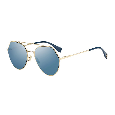 Fendi // Women's Sunglasses // Rose Gold + Blue