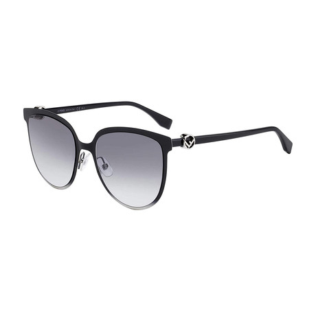 Fendi // Women's Sunglasses // Black + Gray Blue