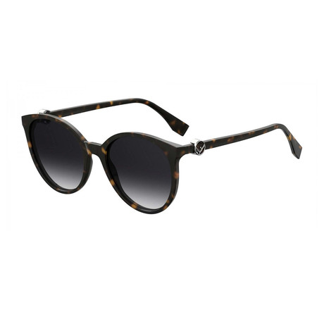 Fendi // Women's Sunglasses V1 // Dark Havana + Dark Gray Gradient