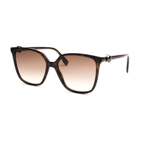 Fendi // Women's Sunglasses // Dark Havana + Brown Gradient