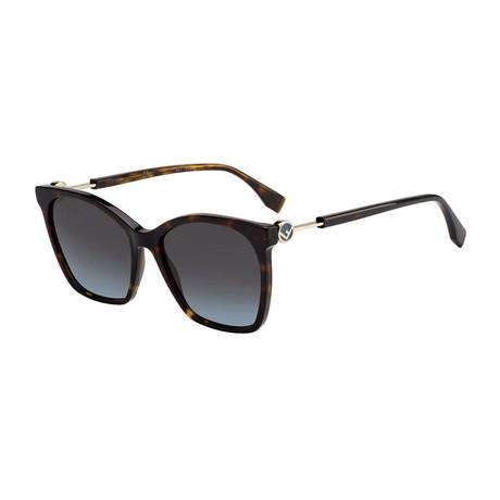 Fendi // Women's Sunglasses // Dark Havana + Gray