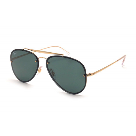 Unisex Aviator Sunglasses // Gold + Green